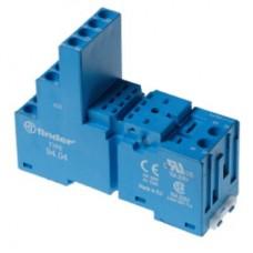 9403SPA, Розетка с винтовыми клеммами (с зажимной клетью) для реле 55.33, таймера 85.03; применяются модули 86.00, 99.02; в комплекте пластиковая клипса 094.91.3; версия: синий цвет
