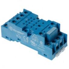 9473SMA, Розетка с винтовыми клеммами (под шайбу) для реле 55.33, таймера 85.03; применяются модули 99.01; в комплекте металлическая клипса 094.71; версия: синий цвет