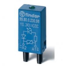 9901002408, Модуль индикации и защиты; красный LED + варистор; 6…24В AC/DC